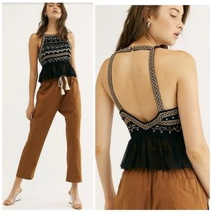 *SALE*NEW Free People Camille Embellished Top